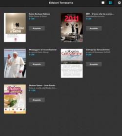 Il chiosco per <i>iPad</i> delle Edizioni Terra Santa: <i>eBook</i> per vivere la Terra di Gesù