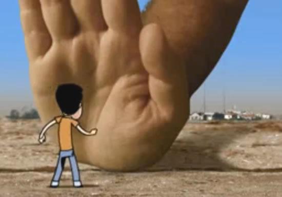 Un cartone animato israeliano contro il blocco di Gaza