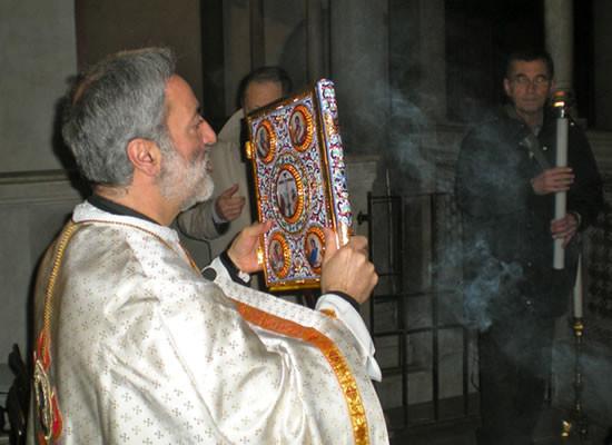 Nell'antica chiesa di Santa Maria in Cosmedin presiede l'archimandrita Mtanios Haddad.