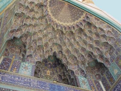 I giochi architettonici della moschea dello Scià