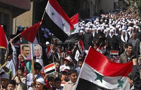 I drusi del Golan tifano per Assad