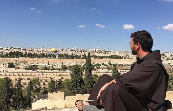 Fra Matteo Brena a Gerusalemme.