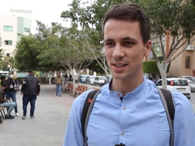 Il primo studente Erasmus a Gaza è italiano