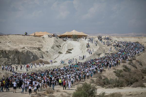 Le donne israeliane e palestinesi marciano per la pace