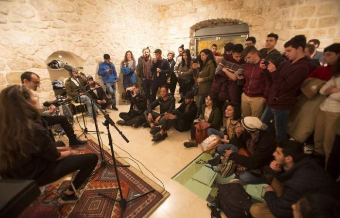 Un concerto dal vivo della Intaj Music Band, nel gennaio 2017. (foto Issa Freij / Al Ma'mal)