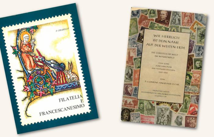 Due storiche pubblicazioni dedicate al francescanesimo e ai temi cristiani nella filatelia.