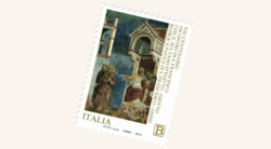 San Francesco e il sultano in un francobollo