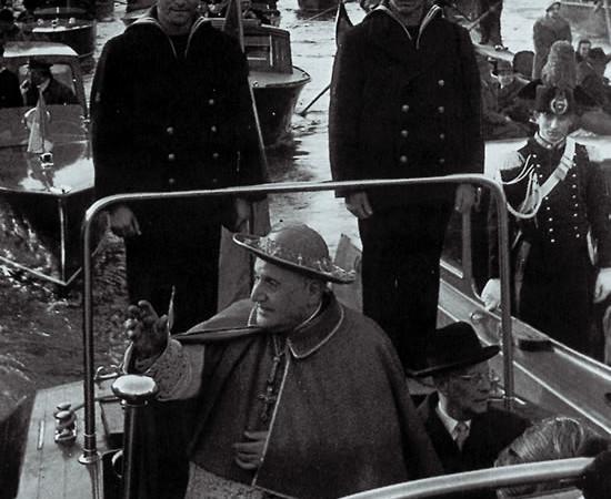5 marzo 1953. Il cardinal Roncalli fa il suo ingresso ufficiale a Venezia come patriarca.