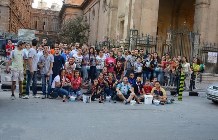 Foto di gruppo per i giovani che hanno aderito all'iniziativa.  (galleria fotografica a cura della parrocchia latina di Aleppo)