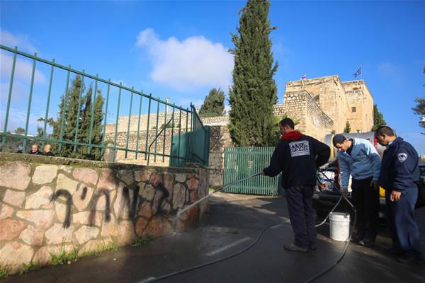 Per la seconda volta nel 2012 oltraggiato un monastero ortodosso di Gerusalemme