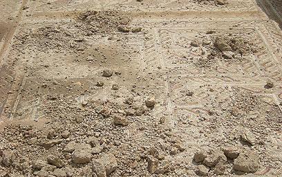 Una veduta dei mosaici devastati dai vandali. (foto: Israel Antiquities Authority) [1/2]