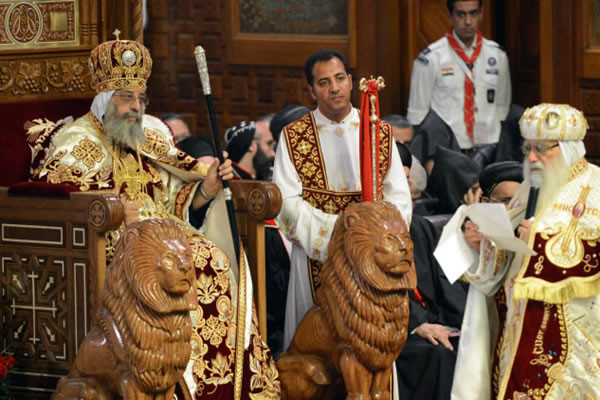 Solenne inaugurazione ieri al Cairo del ministero del papa copto Tawadros II