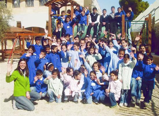 Foto di gruppo per i giovani allievi dell'Istituto Effatà Paolo VI.