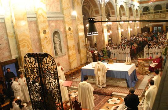 I cattolici di Gerusalemme si mobilitano per il Papa