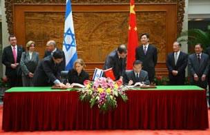 Accordi e disaccordi tra Cina e Israele