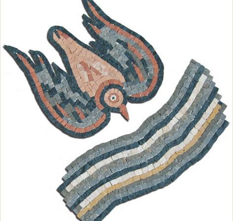 Il logo del Capitolo generale si ispira ai mosaici presso la chiesa della Vergine, nel parco archeologico di Madaba, in Giordania, affidato agli archeologi della Custodia di Terra Santa.
