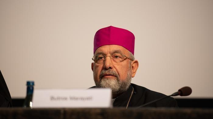 Boutros Marayati, vescovo cattolico di rito armeno ad Aleppo.