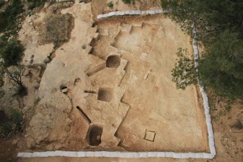 Veduta area del complesso di bagni rituali riportati alla luce a Gerusalemme. (photo: Iaa) [1/3]
