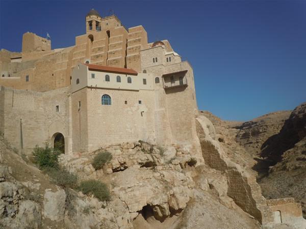 Uno scorcio del monastero ortodosso di Mar Saba.