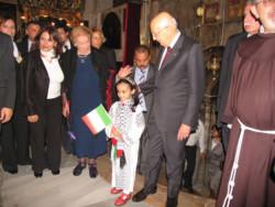 Il presidente Napolitano in Israele e a Betlemme