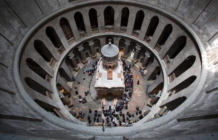 L'edicola a lavori ultimati. (foto Oded Balilty - AP/National Geographic)