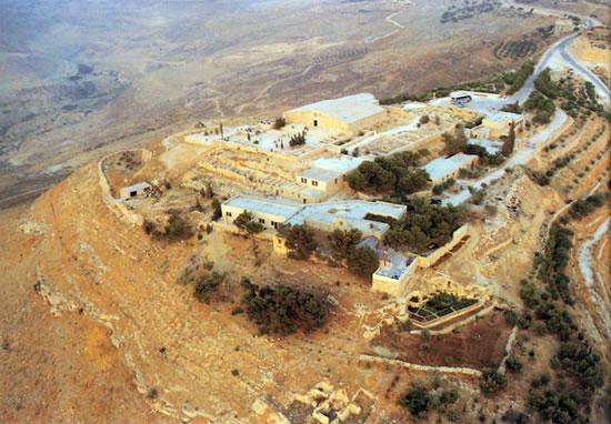 Monte Nebo (Giordania): veduta aerea del complesso di proprietà della Custodia di Terra Santa.