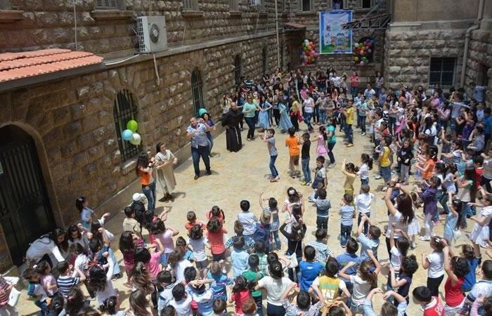 L'oratorio ad Aleppo, oasi nella guerra per molti bambini.