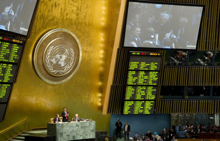 La Santa Sede «saluta con favore» il voto all'Onu sullo Stato di Palestina
