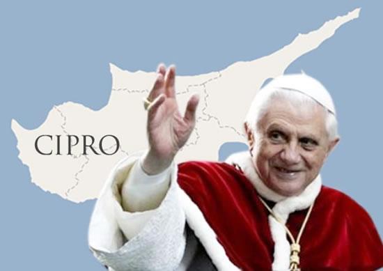Benedetto XVI a Cipro nel giugno 2010