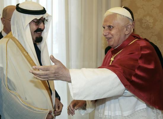 Dialogo tra il Papa e re Abdallah d'Arabia
