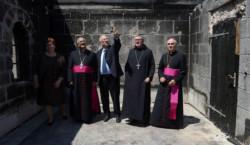 Reuven Rivlin visita il santuario di Tabgha