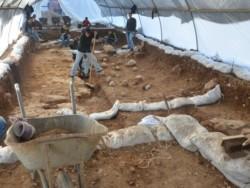 Gli archeologi in un campo di battaglia romano a Gerusalemme