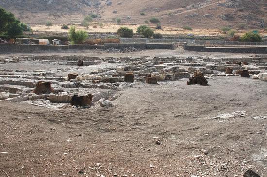 Scorcio del sito archeologico di Magdala, sulle rive del Lago di Tiberiade, in Galilea (Israele).  (foto G. Caffulli)