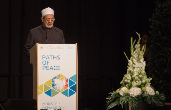 L'intervento del grande Imam di Al Azhar, Ahmed Al-Tayyeb, domenica 10 settembre.