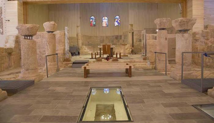Panoramica dell'aula basilicale come si presenta ora.