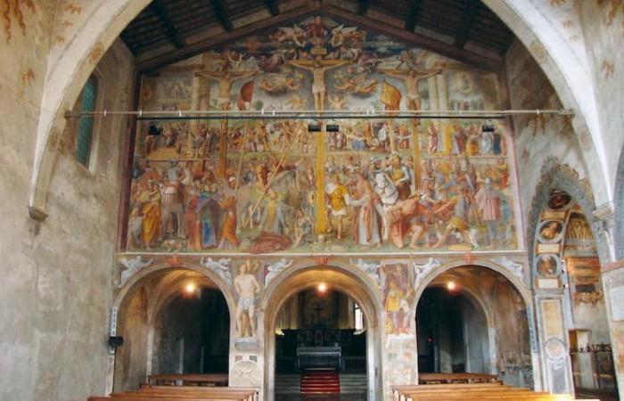 Bernardino Luini, Passione e Crocifissione di Cristo (1529), chiesa di Santa Maria degli Angeli, Lugano