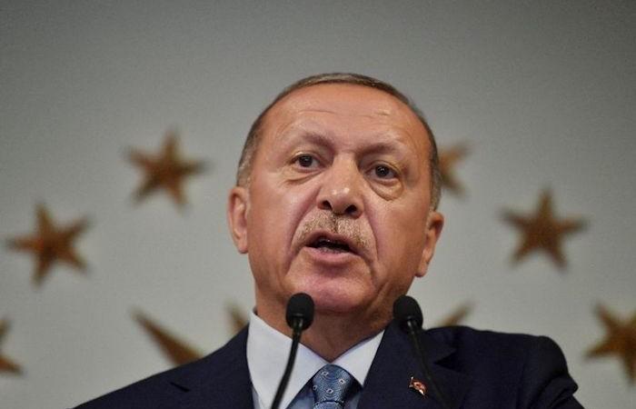 Erdoğan saldo in sella