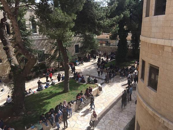 Lezioni sospese all'Università (cattolica) di Betlemme
