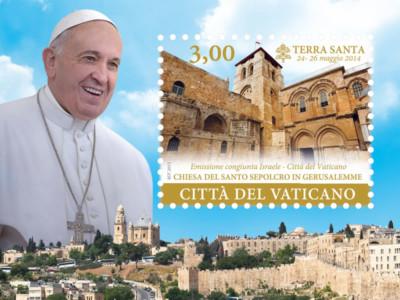 Vaticano e Israele, nuovi francobolli per ricordare il viaggio di Papa Francesco