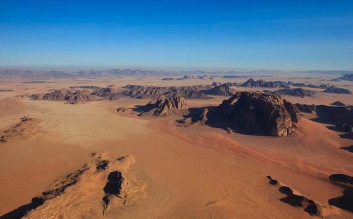 Veduta aerea del Wadi Rum. (© foto JTB)