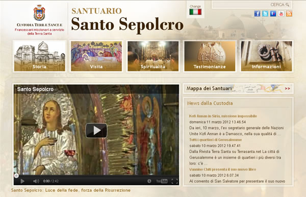 Tutto sul Santo Sepolcro in un nuovo sito della Custodia