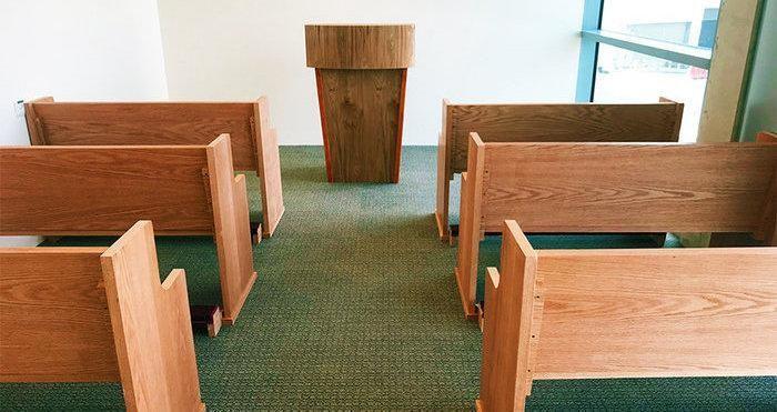 Scorcio dell'aula di preghiera per i cristiani.