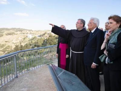 Il presidente Sergio Mattarella al Monte Nebo