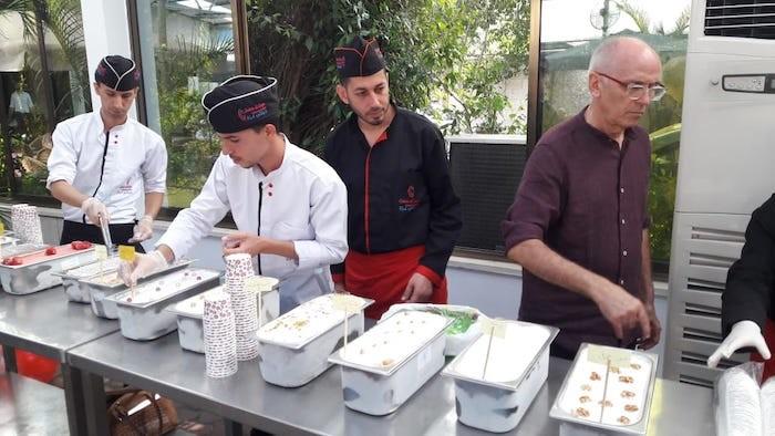 Dal gelato  nuovi posti di lavoro a Gaza. (foto Vento di Terra)