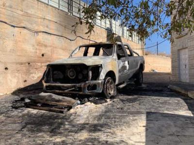 Vandalismi notturni nel villaggio cristiano di Taybeh