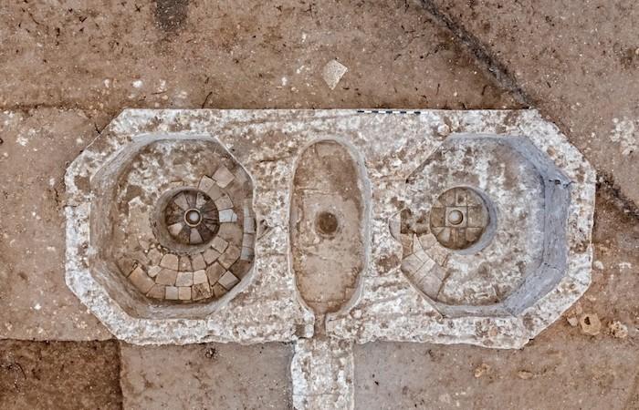 Torchi d'epoca bizantina riportati alla luce ad Ashkelon. (foto Asaf Peretz / Autorità israeliana per le antichità)
