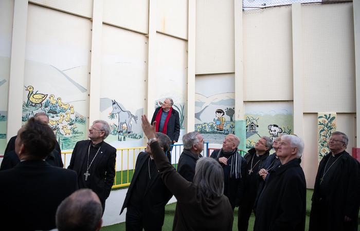 I vescovi dell'Holy Land Coordination nel convento delle comboniane a Betania. (foto N. Asfour)