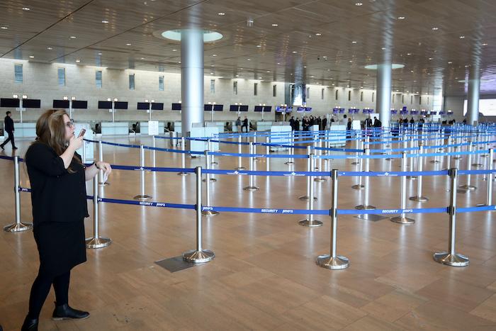 Tel Aviv aeroporto Ben Gurion vuoto