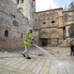 disinfezione sagrato santo sepolcro Gerusalemme