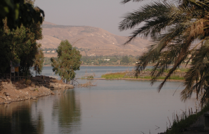 Il lago di Tiberiade (o mare di Galilea) in un periodo di siccità, luglio 2006. (foto Yossi Zamir /Flash90)